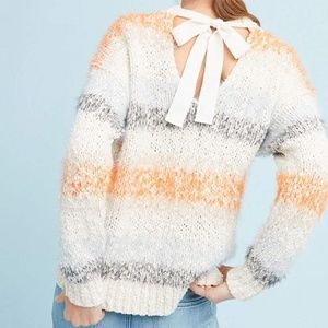 Anthropologie Kennedy Striped Pullover Sweater